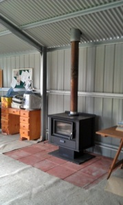 Heater installed in big shed September 2012